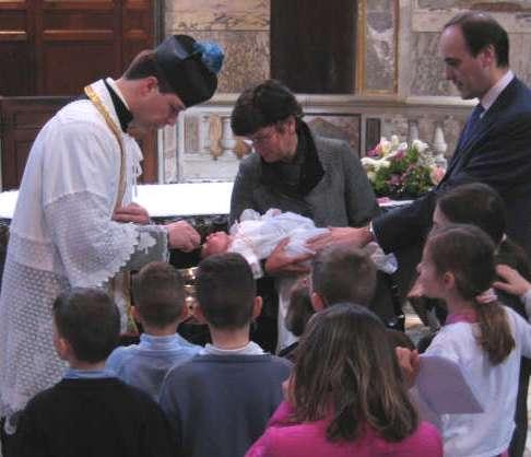 Battesimo a San Giovanni in Laterano