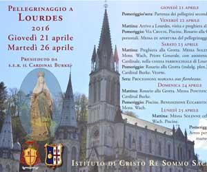 Pellegrinaggio Lourdes 2016
